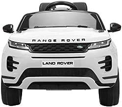 TOBBI 12V Licensed Land Rover Kids Ride On Car with Parental Remote Control (White)