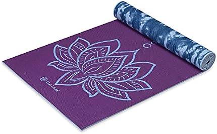 Esterilla Gaiam de yoga, con estampado prémium reversible