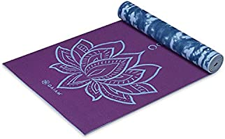 Gaiam Yoga Mat - Premium 6mm Print Reversible Extra Thick Non Slip Exercise & Fitness Mat for All Types of Yoga, Pilates...