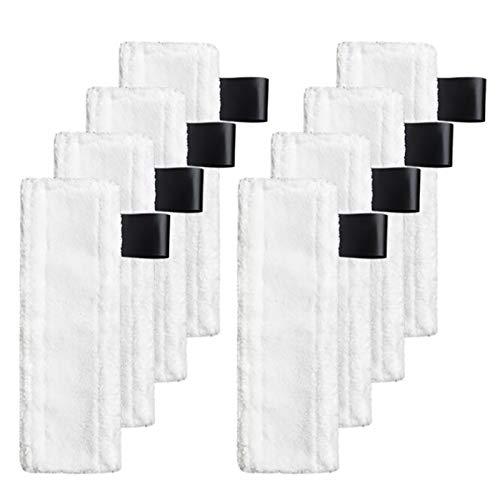 SANKUAI LT-Home, 8 stücke Boden Tuch Pinsel kopfabdeckung für k-a-r-c-h-e-r sc1 sc2 sc3 sc4 sc5 dampfboden sauberer sauberer Home portreinigungsteile (Farbe : Weiß)