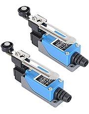 TheStriven 2 Piezas Final De Carrera Ajustable ME-8108 Interruptor De Límite Interruptor De Rodillo Interruptor De Límite De CNC para Interruptores De Control Eléctrico En Mecánica Y Otras Industrias