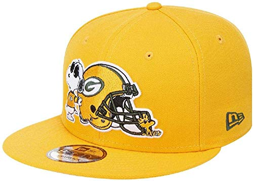 New Era - NFL Green Bay Packers Peanuts 9Fifty Snapback Cap - Gelb Größe S-M, Farbe Gelb