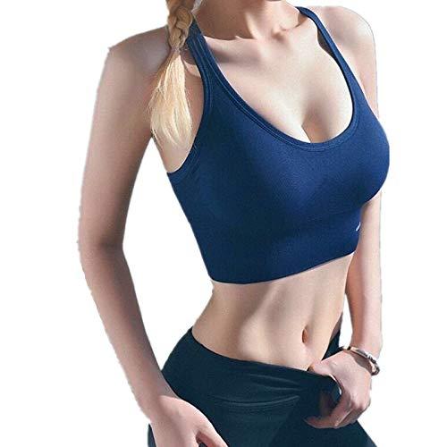 Cwang Sujetador Diario cómodo de algodón para Mujer,BLU,M