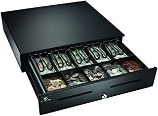 """APG JB320-BL1816-C Heavy-Duty Painted-Front Cash Drawer with MultiPRO 320 Interface, 24V, 18"""" x 4.2"""" x 16.7"""", Black"""