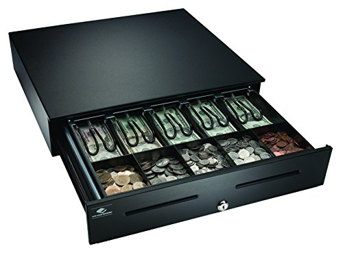 APG JB320-BL1816-C Heavy-Duty Painted-Front Cash Drawer with MultiPRO 320 Interface, 24V, 18' x 4.2' x 16.7', Black