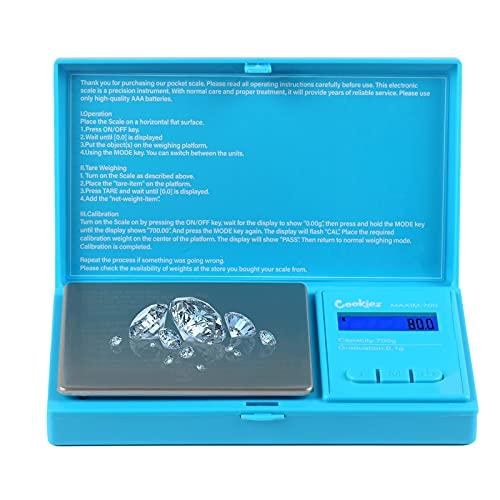 leegoal Escala de bolsillo digital de 500 g por 0,01 g, escala de gramos digitales, escala de alimentos, báscula de joyería, color negro, báscula de cocina de 500 g para alimentos y café y medicina