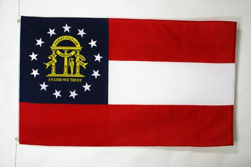 AZ FLAG Flagge Georgia 90x60cm - GEORGISCHE Bundesstaat Fahne 60 x 90 cm - flaggen Top Qualität