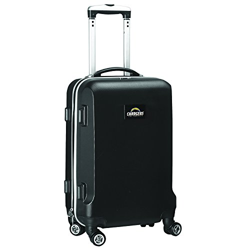 %31 OFF! Denco NFL Los Angeles Chargers Carry-On Hardcase Luggage Spinner, Black