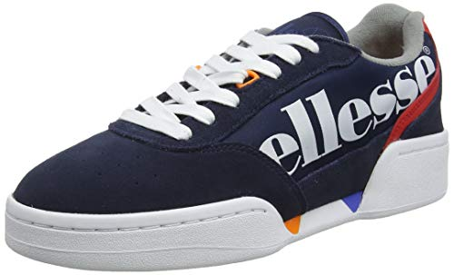 ellesse Herren Piacentino Sneaker, Weiß (White/Navy/Red Navy/White/Red), 39.5 EU