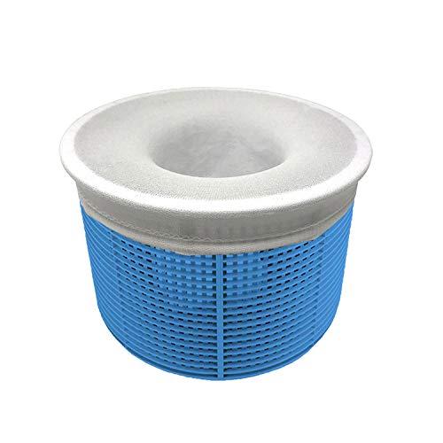 Aiglam 30 Piezas Calcetines Skimmer Piscina, Calcetines Protectores para Filtros de Piscina para Cesta de Filtro Skimmer, Forro de Malla de Malla Ultra Fina para Cesta de Piscina