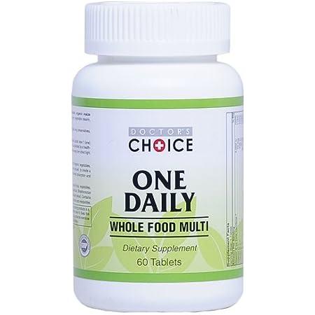 【Doctor's Choice】ドクターズチョイス マルチビタミン&ミネラル( 1日1粒 60日分 60粒入りタブレット) 20種以上のホールフードオーガニック野菜、果物、きのこ類、乳酸菌配合