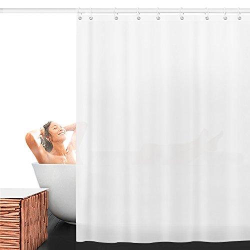 AODOOR Duschvorhang Anti-Schimmel, Anti-Bakteriell Wasserabweisender Stoff PEVA mit 12 Duschvorhangringe für Badezimmer, 180 x 200 cm