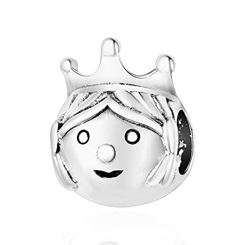 LIIHVYI Pandora Charms para Mujeres Cuentas Plata De Ley 925 Joyas Princesa Preciosa Compatible con Pulseras Europeos Collars