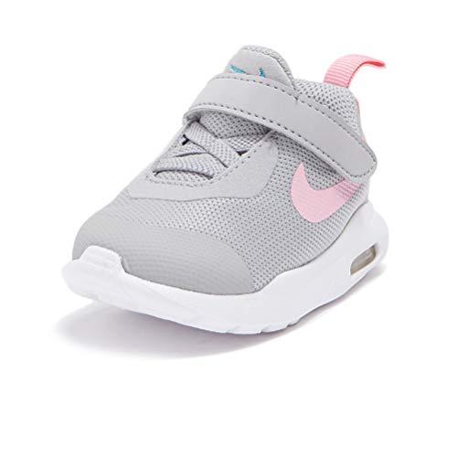 Nike Air MAX Oketo (TDV), Sneaker, Lt Smoke Grey/Metallic Silver-Pink, 21 EU