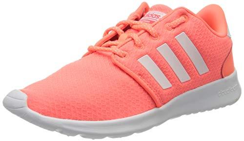 adidas Qt Racer, Zapatillas para Correr Mujer, Señal Coral/Blanco FTWR/Rojo Choque, 38 2/3 EU