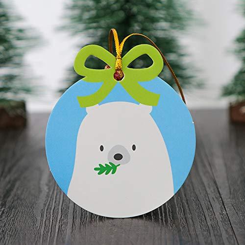 DishyKooker 20Pcs Weihnachtsserie etikettiert das Papiergeschenk-Aufkleber-Backen, das dekorative Gruß-Karte einwickelt Eisbär Haushalt