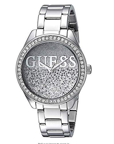 Luxury Watch Lujoso Reloj Guess Designer Plata Vintage Pulsera Mujer Cristales Rhinestone