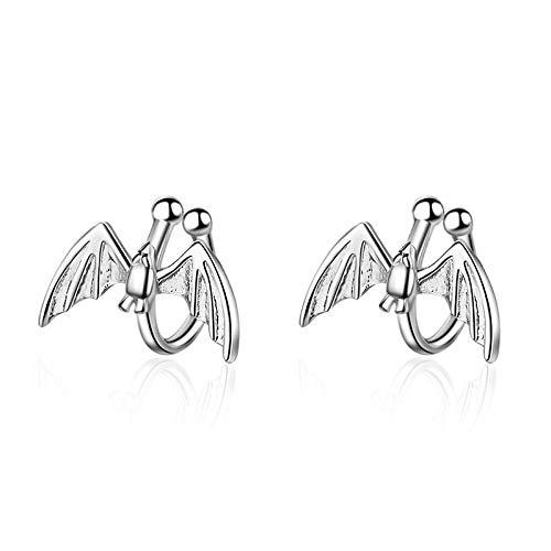 Orecchino 925 Sterling Silver Elf Ear Bone Clip Personality Statement Gioielli Orecchini A Pipistrello Creativi Fatti A Mano Per Gli Amanti