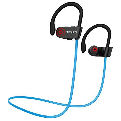 Fire-Boltt Echo 1300 Bluetooth Earphone, Wireless Neckband, in Ear Headset with HD Calling & Rich Bass (Blue)