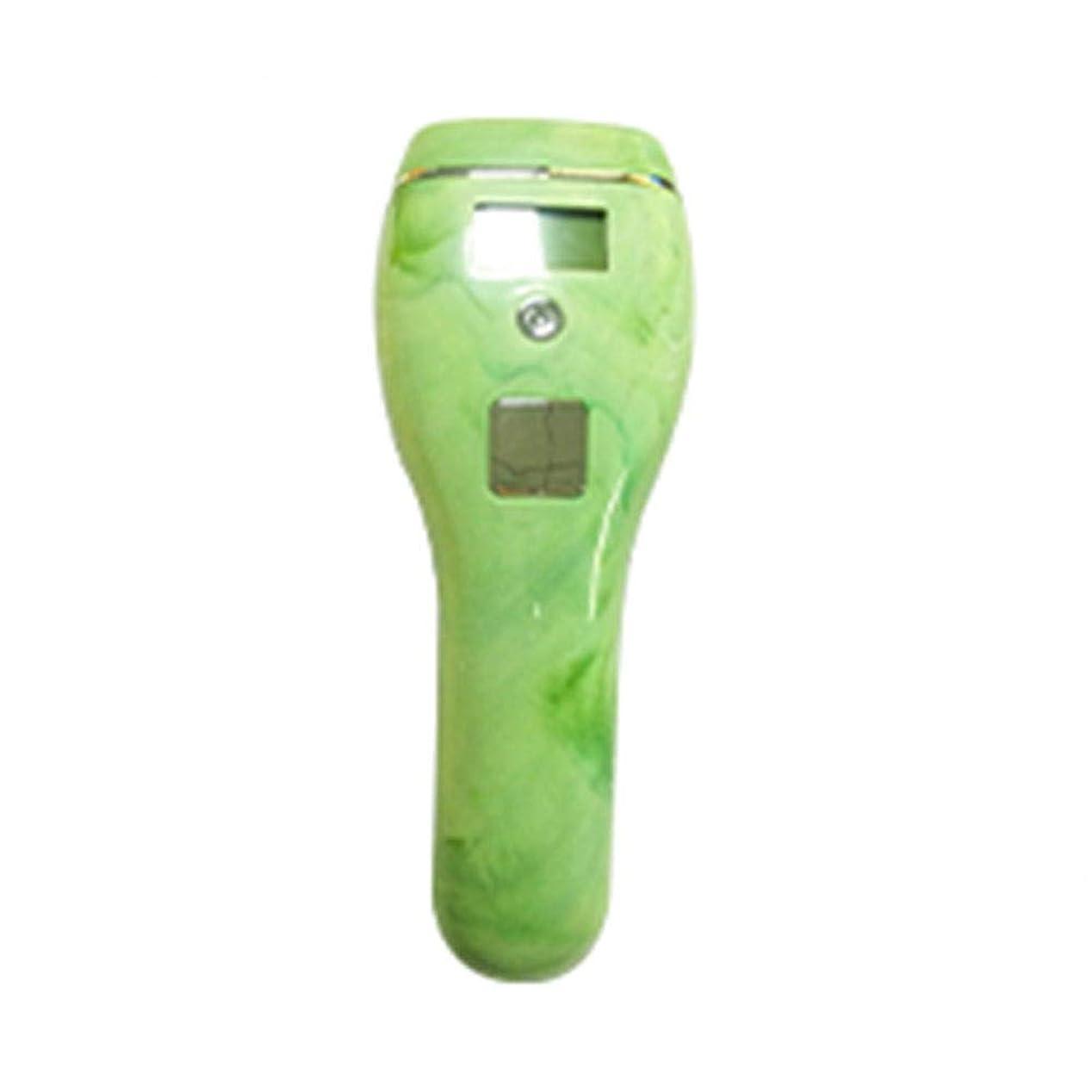 サポートトランジスタ遺伝的高男 自動皮膚感知グリーン、5スピード調整、石英管、ポータブル無痛全身凍結脱毛器、サイズ19x7x5cm (Color : Green)