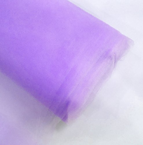 "Craft and Party, 54"" by 40 yards (120 ft) fabric tulle bolt for wedding and decoration (Lavender)"