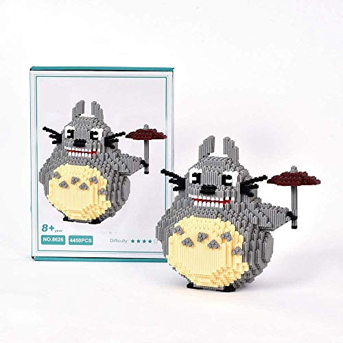 Building Blocks Anime Character Knowledge Totoro Stress Reliever Model Building Block Set 4450+ PCS Nano Mini Blocks DIY Toys 3D Puzzle DIY Educational Toys Easy To Grasp Thanksgiving Halloween