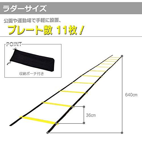 『アジリティーラダー(6m)ミニハードル(6個)マーカーコーン(10個)』