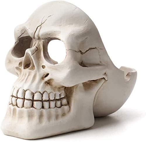 Dliso4 Resina Ceniceros cráneo AshtrayUniversal for Automóviles Viajes Fácil de Carryor Cenicero Cenicero Cargando Inicio Jardín (Color : Black)