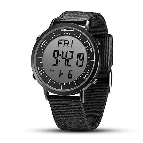 Relojes Digitales, Reloj Deportivo Digital Unisex para Hombres, Mujeres, niños (Negro-2)