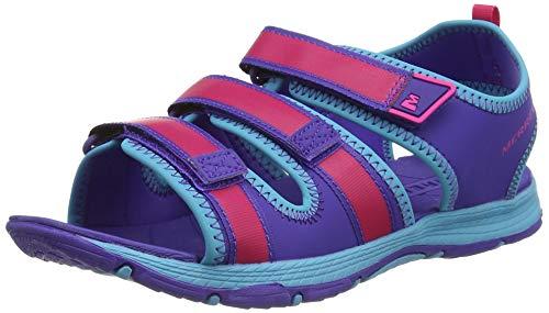 Merrell Kids Hydro Creek Ankle Strap Sandals,Multicolour (Purple/Multi),4...