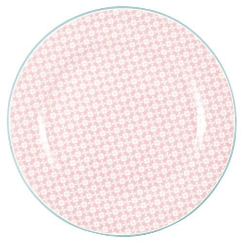 GreenGate - Teller, Kuchenteller, Frühstücksteller - HELLE - Pale pink - D: 20,5 cm