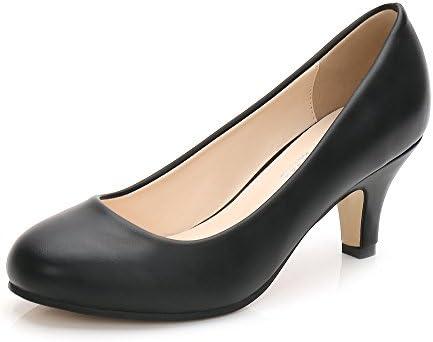 Round toe pumps low heel _image0