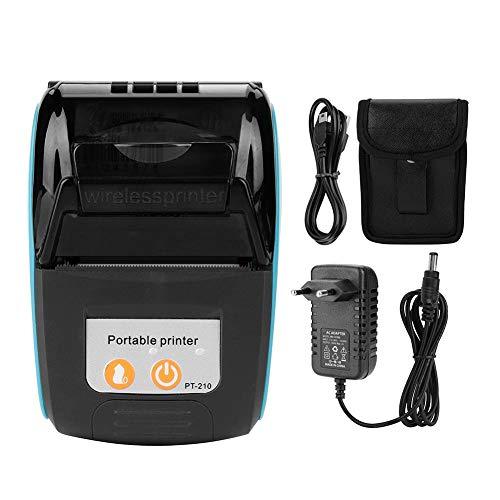 Furnoor Impresora de Recibos portátil inalámbrica Impresora térmica de facturas Bluetooth 58 mm 110-240 V Transparente(Regulaciones Europeas Azules)