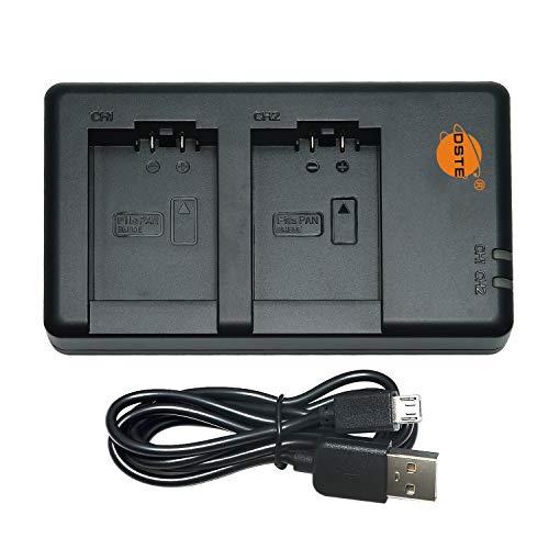 DSTE DE-A83 DE-A83BA DE-A84 DE-A84AA DE-A84AB Batterie USB Dual Quick Ladegerät Compatible für DMW-BMB9E,DMW-BMB9,Leica BP-DC9,Panasonic Lumix DMC-FZ62,DMC-FZ70,DMC-FZ72,DMC-FZ100,DMC-FZ150,V-Lux3