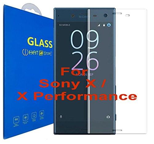 Sony Xperia X/Sony Xperia X Performance - Curvo 3D Cristal Templado Protector de Pantalla, 3D Completo Borde Curvado [ Borde a Borde ] para Sony Xperia X/Sony Xperia X Performance (Clear)