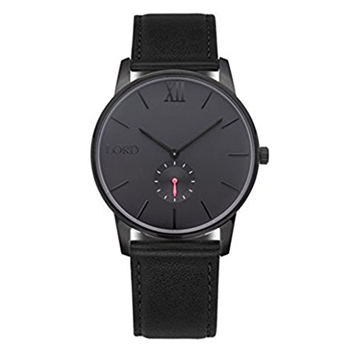 Lord Timepieces - Reloj de pulsera, color negro y negro