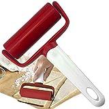 Koet, mattarello per pasticceria, pizza, pasta fondente, con manico, antiaderente, utensile da forno per pasta, pizza, torte, pasta, biscotti, Non null, Rosso, Taglia libera