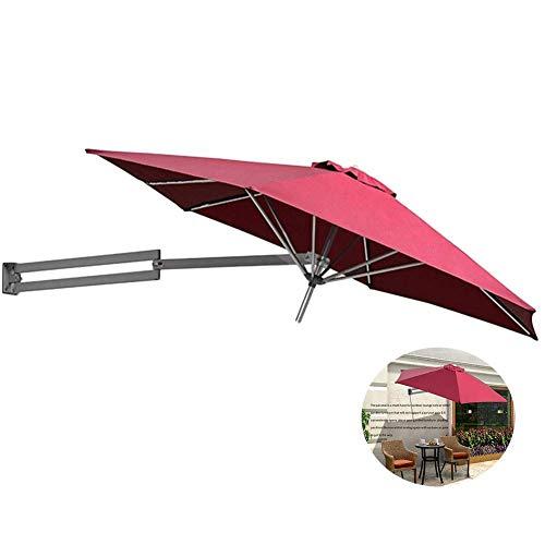 LY88 Parasol, wandbevestiging, parasol, kantelbaar, balkon, tuin, buiten, mast van aluminium, Ø 250 cm