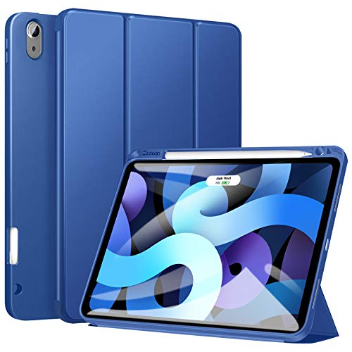 ZtotopCase Case for New iPad Air 10.9 inch 2020(4. Generation), Full Body Protective Rugged Shockproof Case with Pencil Holder, Auto Wake/Sleep,Cover for ipad Air 10.9' 2020 Release - Blue