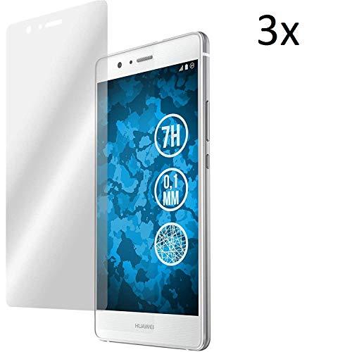 Cardana   3X bruchsicheres Schutzglas für Huawei Ascend P9   Schutzfolie aus 9H Echt Glas   angenehme Handhabung  Schutzglas zum Schutz vor Displayschäden   blasenfreie Anbringung   3 Stück