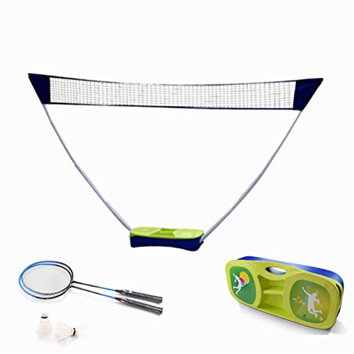 QWEEF Reti da Tennis Telaio Badminton Net Esterna Luce Pieghevole Portatile e Semplice Standard Mobile Net Set da Calcio (Color : Green, Size : One Size)