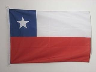 AZ FLAG Bandera de Chile 90x60cm Uso Exterior - Bandera CHILENA 60 x 90 cm Anillos