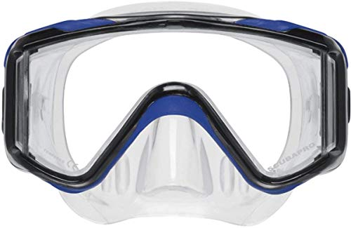 ScubaPro Crystal VU Plus With Purge Mask-Blue/Grey