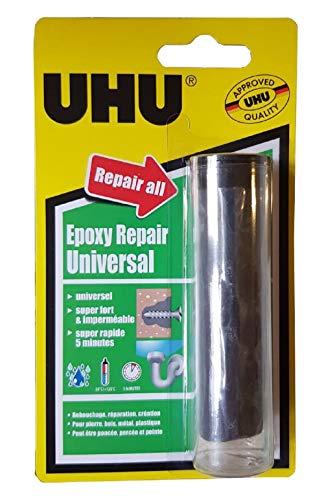 UHU Epoxy Repair - Pasta de amasar para reparaciones duraderas interiores y exteriores (56 g)