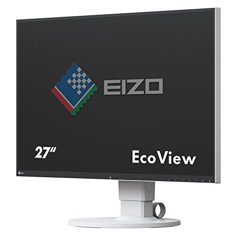 EIZO FlexScan EV2750-WT 68,5 cm (27 Zoll) Ultra-Slim Monitor (DVI-D, HDMI, USB 3.1 Hub, DisplayPort, 5 ms Reaktionszeit, Auflösung 2560 x 1440) weiß