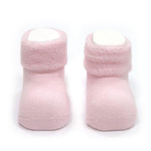 Cambrass Chaussettes unisexe pour bébé uni - Rose - 0-3 mois