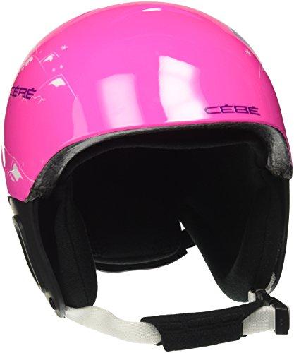 Cébé Pluma Junior Cascos de ski, Niñas, Shiny Pink Bear, 48-51 cm