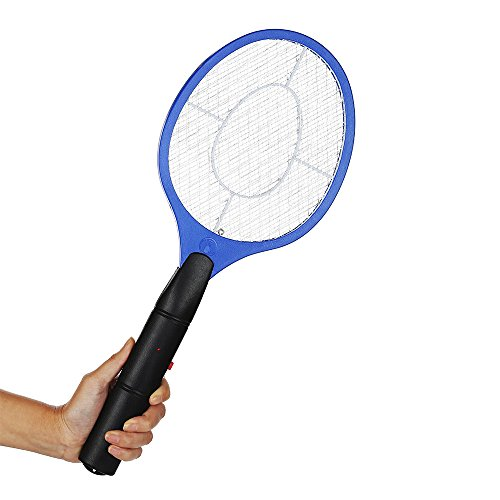 Matamoscas eléctrico,AZX,Mosquito Insectos eléctrico del Pila con Mango, Raqueta electrica insecto de la mosca Bug Zapper Avispa Swatter (Azul)