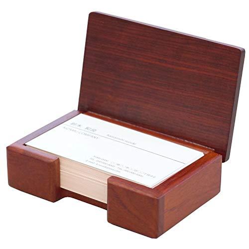 卓上 名刺ケース 木製 高級 ローズウッド 80枚収納 名刺入れ 卓上収納 カード ケース