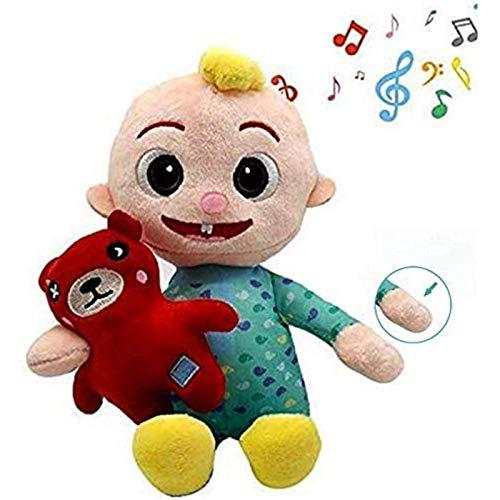 JJ Plush Doll Can Sing, JJ Doll Music Sleeping Plush Stuffed Animal Toys, Cantar, Jugar con Bear JJ Dolls antes de irse a la cama, Juguetes educativos Muñecas suaves Regalos de cumpleaños de Navidad